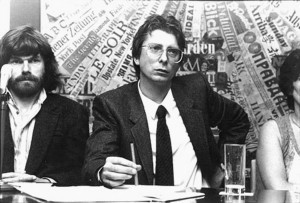 Alex Langer (a destra) e Reinhold Messner