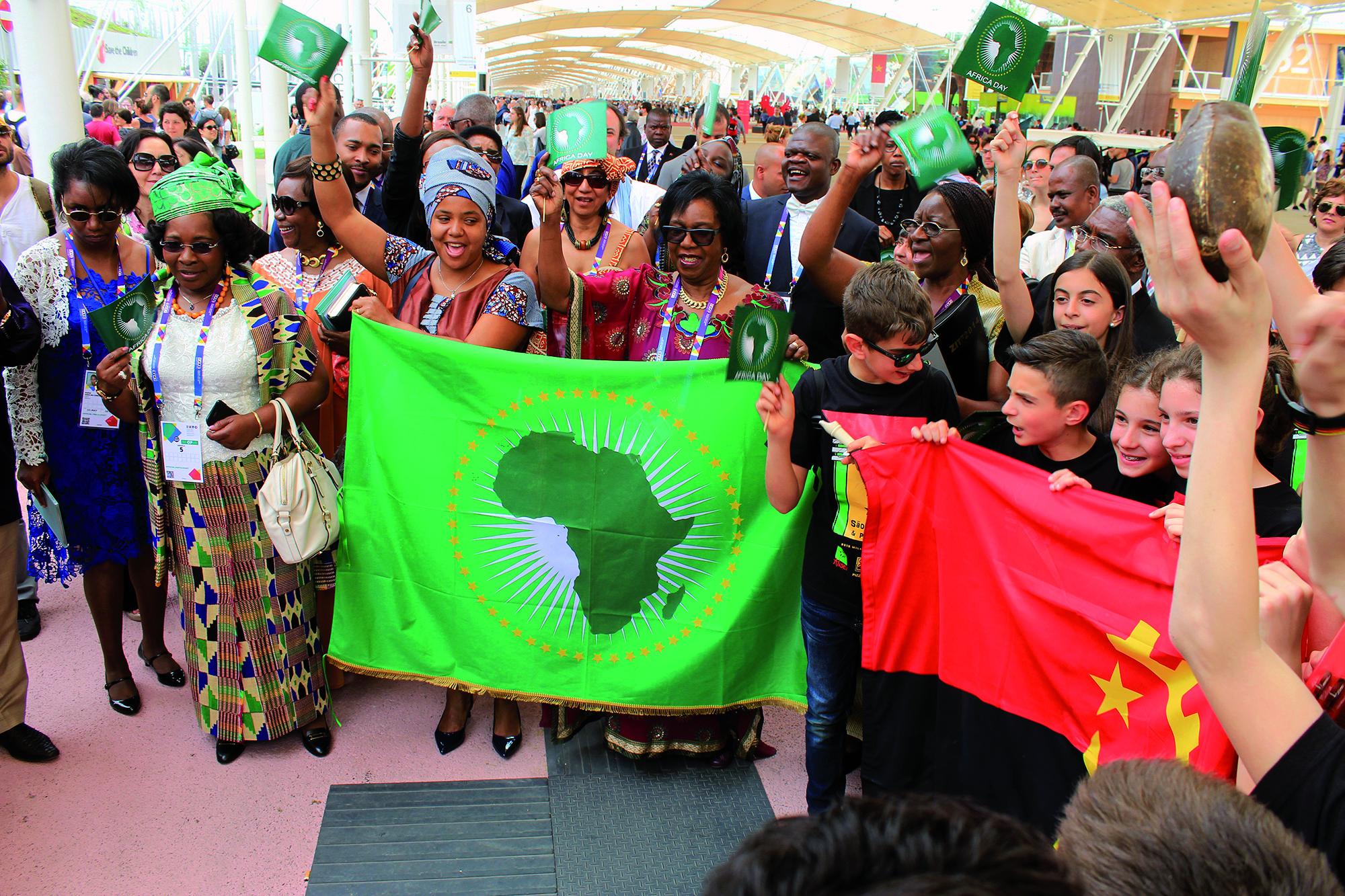 L'Africa day al padiglione dell'Angola