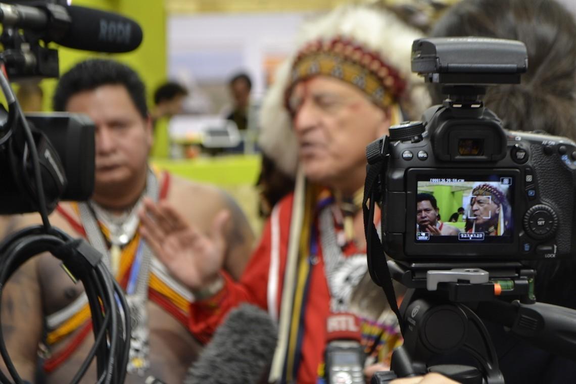 Candido Mezua Salazar, indigeno panamense, alla Cop21
