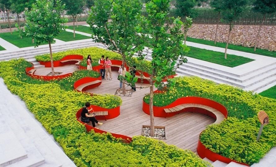 foto di un giardino pensile