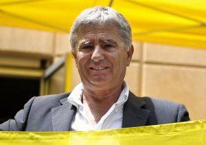 Una foto d'archivio (11 giugno 2010) mostra Angelo Vassallo, sindaco di Acciaroli, a Roma in occasione della presentazione della guida blu di Legambiente. GUIDO MONTANI/ANSA