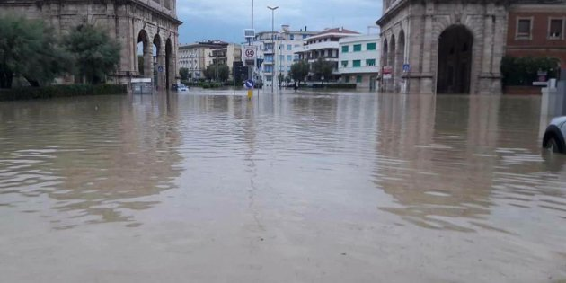 Nubifragio a Livorno