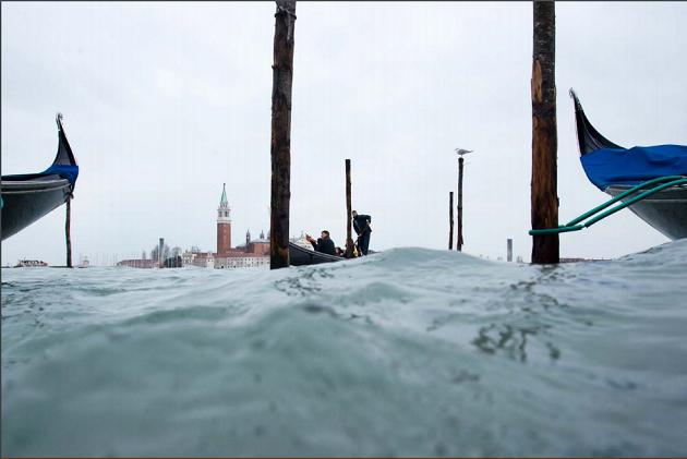 Rischio acqua alta a Venezia