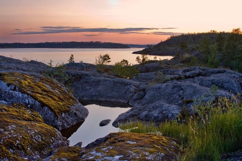 Un'immagine del Parco nazionale delle scogliere del lago Ladoga