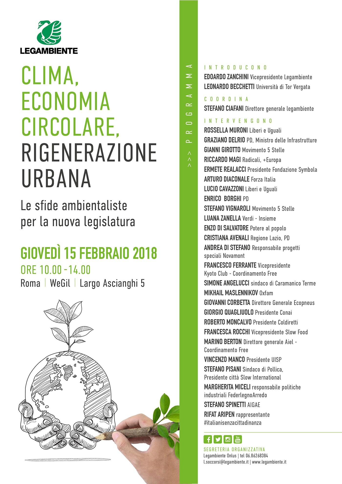 Clima, economia Circolare, Rigenerazione Urbana Programma