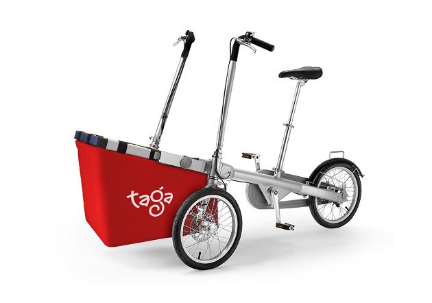 immagine di una Taga Bike con il cesto