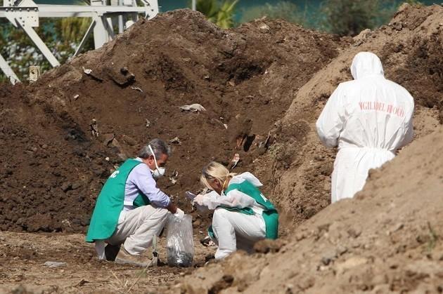 immagine di scavi alla ricerca di rifiuti pericolosi interrati