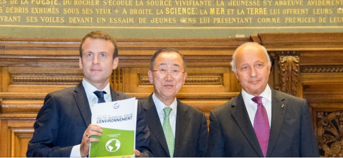 Foto dei leader per il Global Pact For The Environment