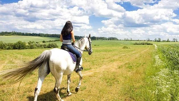 immagine di una ragazza su un cavallo