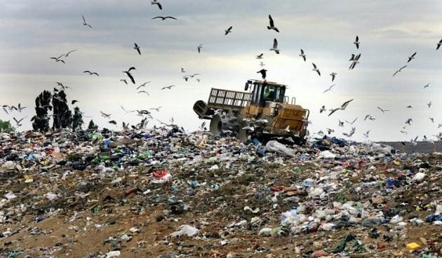 un'immagine della discarica di Malagrotta