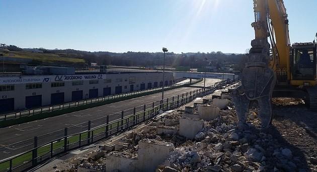 immagine dei lavori nell'area dell'Autodromo