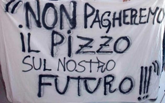 immagine di un cartello contro il pizzo