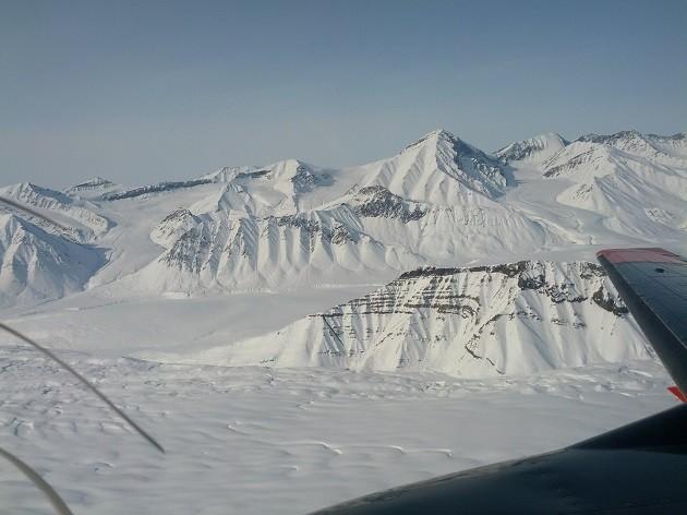 Un'immagine dei ghiacci artici canadesi