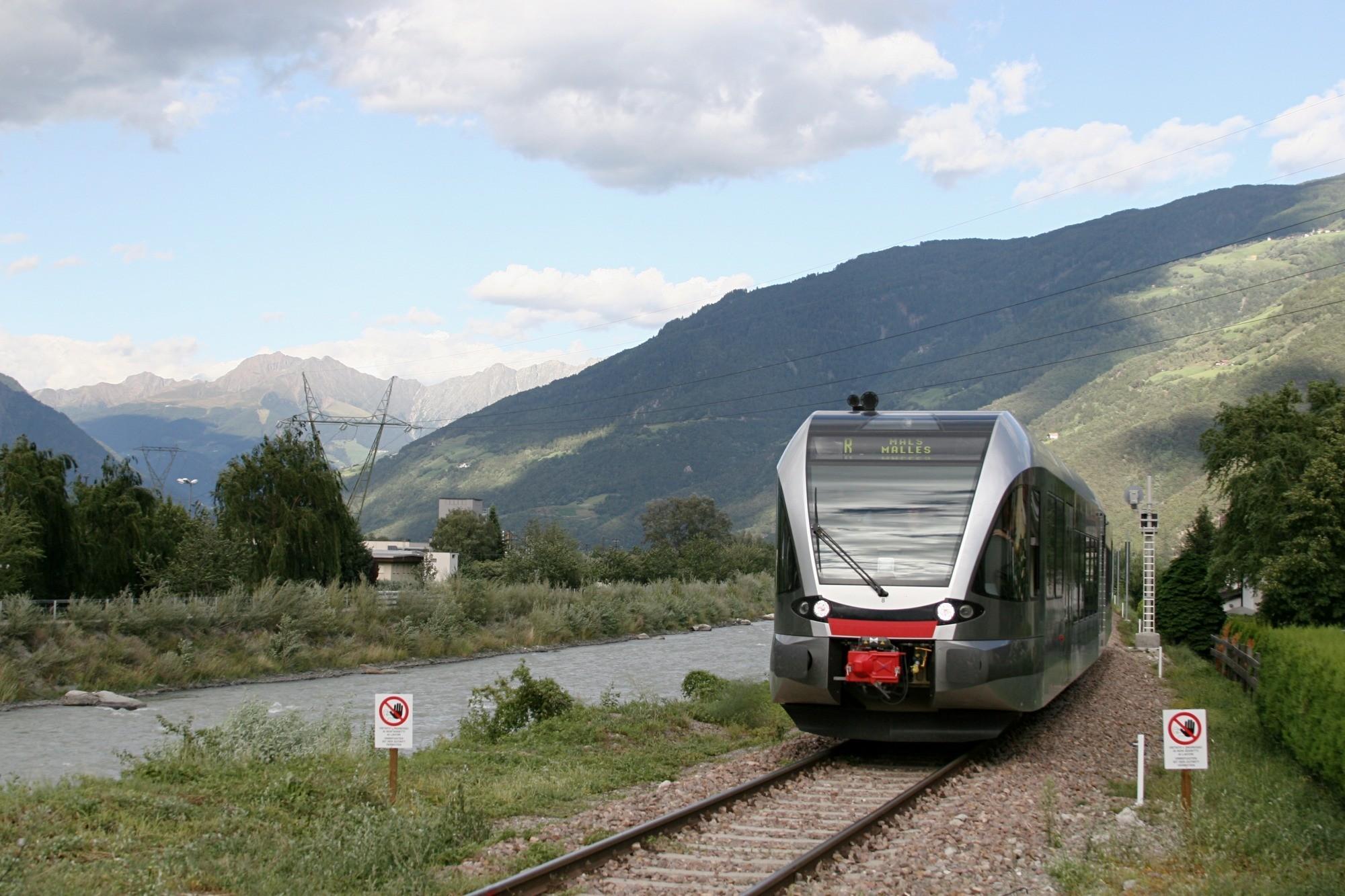 foto della ferrovia Val Venosta