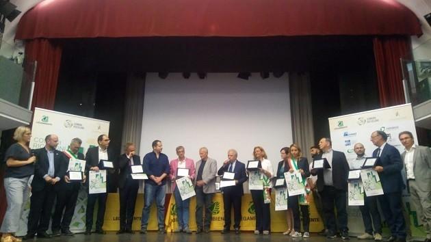foto premiazione Comuni Ricicloni 2018