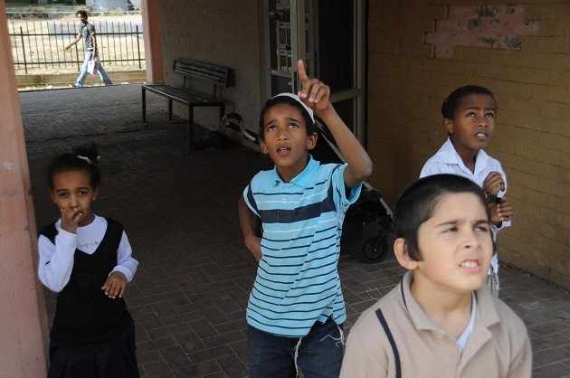foto di bambini a Gaza
