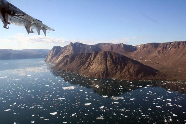 un'immagine dell'isola di Ellesmere senza ghiaccio
