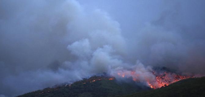 Allarme incendi Grecia
