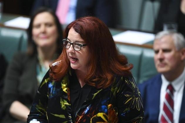 primo piano della ministra australiana all'Ambiente, Melissa Price