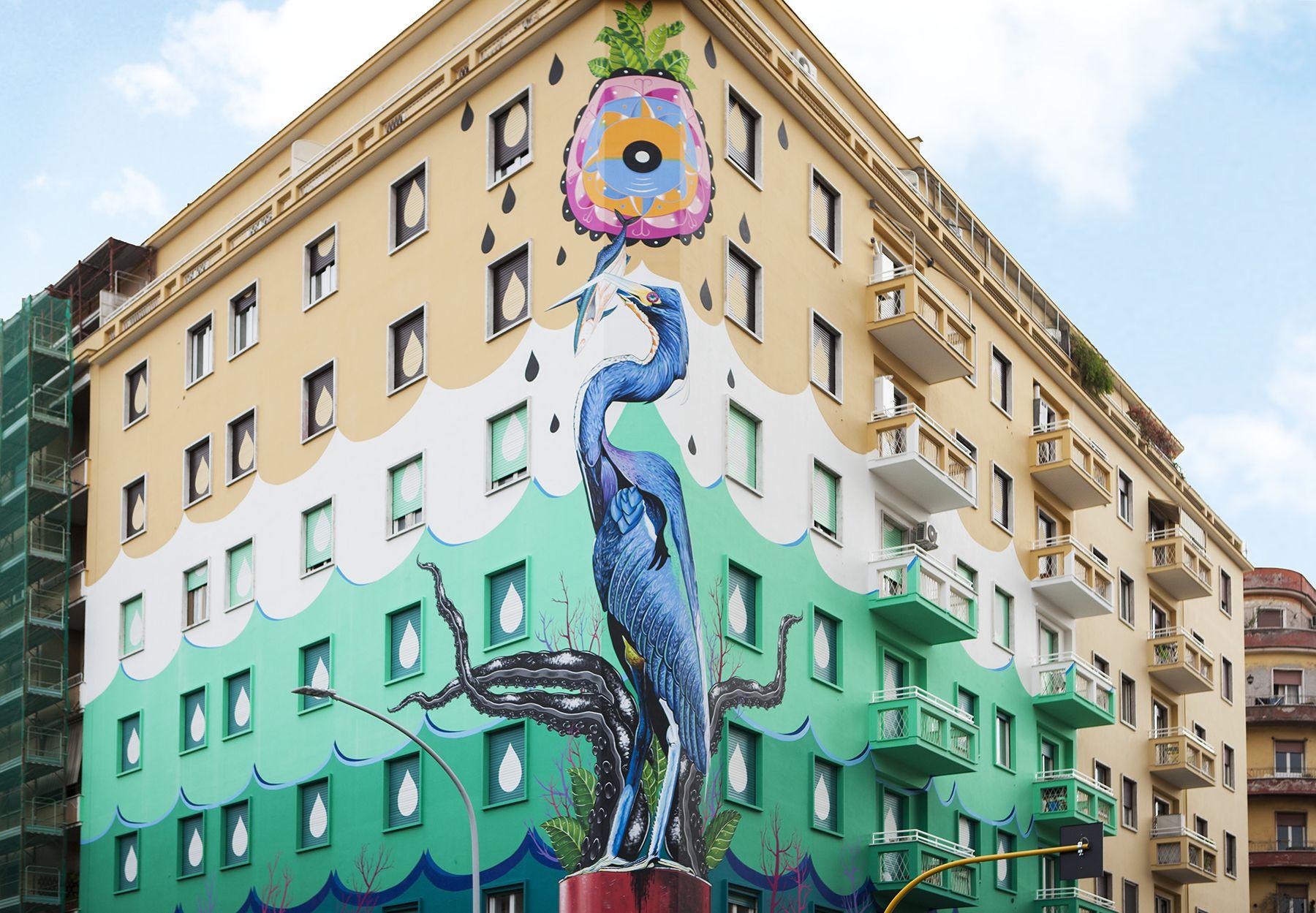Huinting Pollution, murales di Iena Cruz