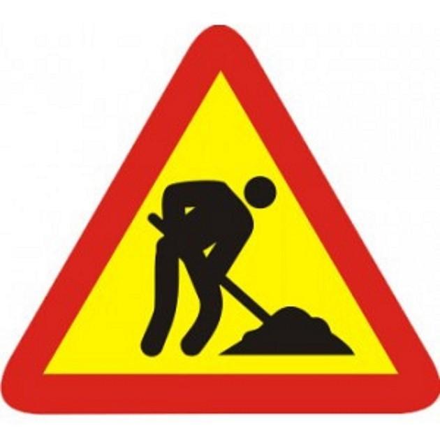 immagine di un cartello stradale che segnala 'lavori in corso'