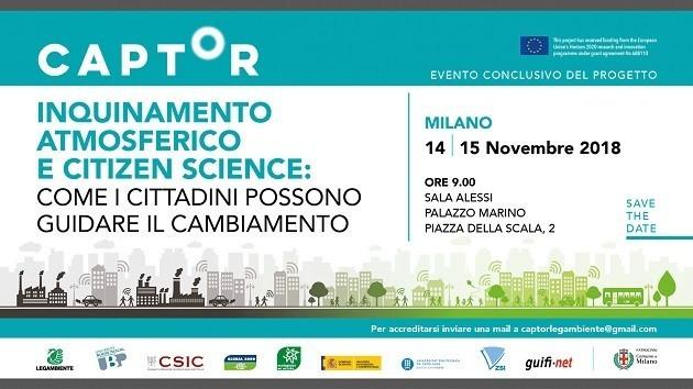 """La locandina dell'evento """"Captor"""" a Milano"""
