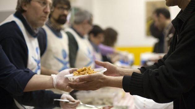 Una mensa della Caritas per bisognosi