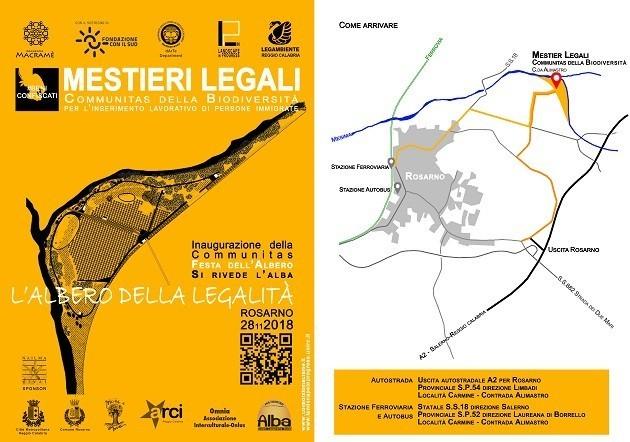 Locandina progetto Communitas Biodiversità Rosarno
