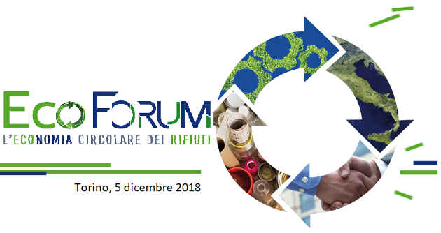 La locandina dell'Ecoforum per l'economia circolare del Piemonte
