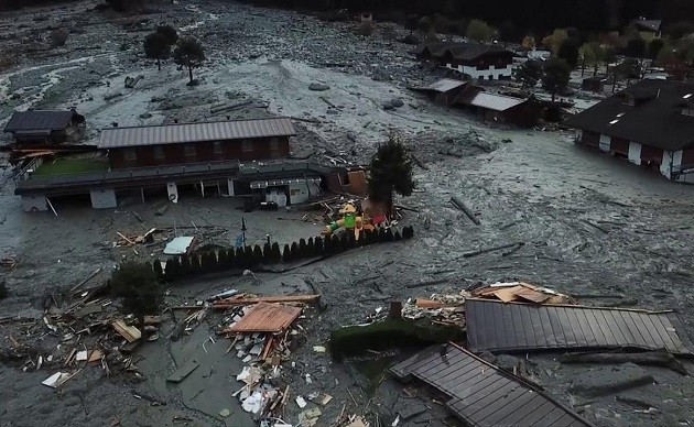 Immagine dei danni causati dal maltempo in Trentino
