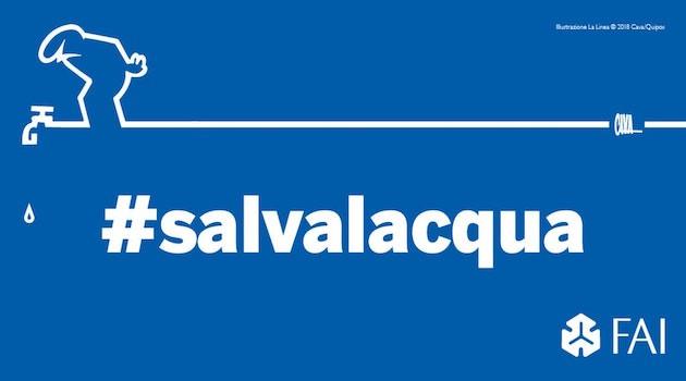 L'immagine della campagna #salvalacqua