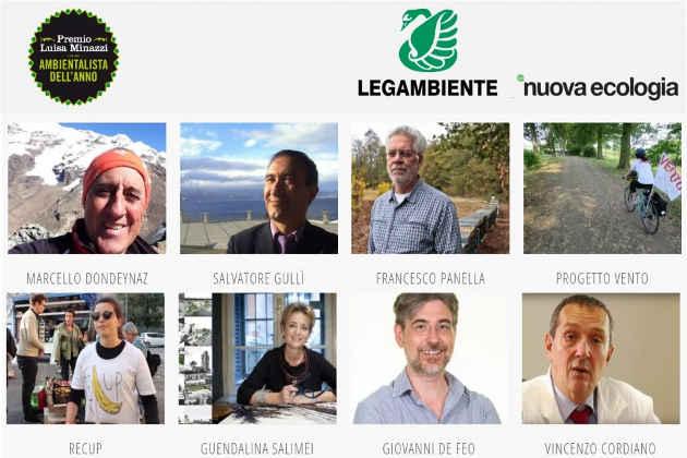 Finalisti Premio Ambientalista dell'anno 2018