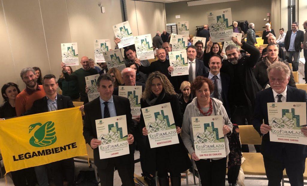 Premiati i Comuni Ricicloni nel Lazio