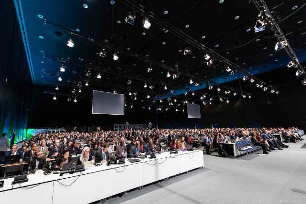 Un'immagine dell'apertura della Conferenza sul Clima Cop24