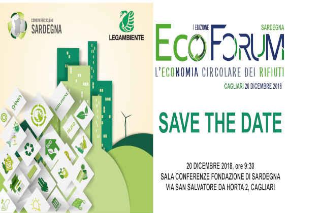 La locandina di Ecoforum Sardegna 2018