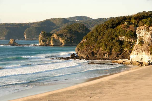 Un'immagine di una spiagga giapponese