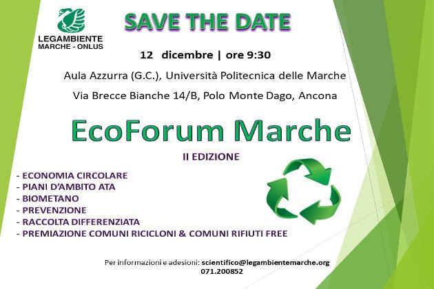 L'invito all'EcoForum Marche