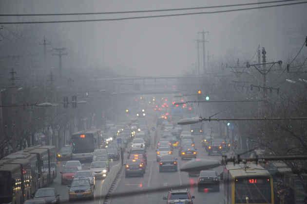 L'immagine di una strada trafficata