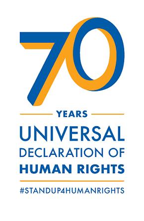 Il logo utilizzato per il settantesimo della Dichiarazione universale diritti umani