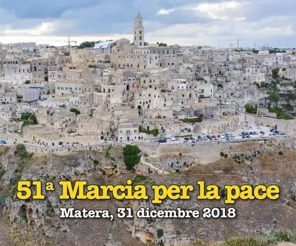 Il manifesto della Marcia della Pace ai Sassi di Matera