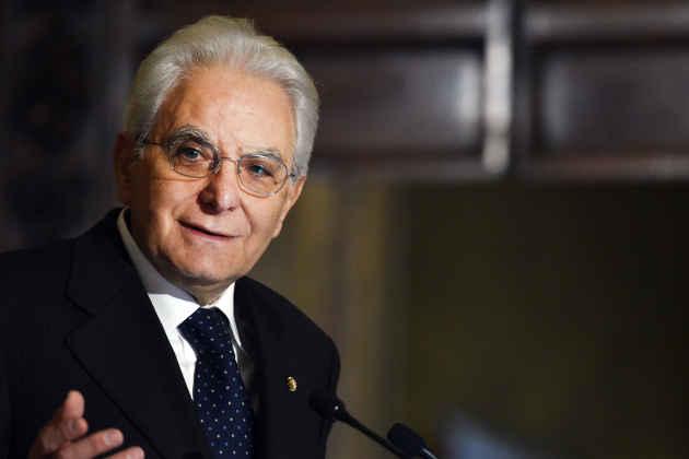 Una fotografia del presidente della Repubblica Sergio Mattarella