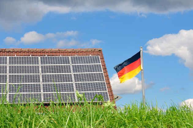 Un impianto solare in Germania