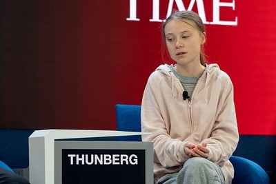 Greta Thunberg a Davos foto World Economic Forum/Sandra Blaser