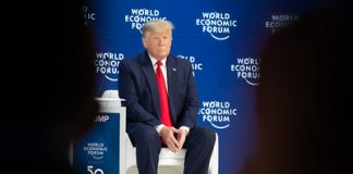 Donald Trump a Davos foto World Economic Forum/Benedikt Von Loebell