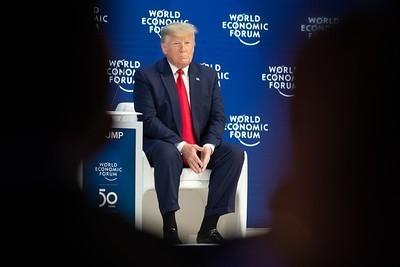 Donald Trump a Davos foto World Economic Forum/Benedikt Von Loebell