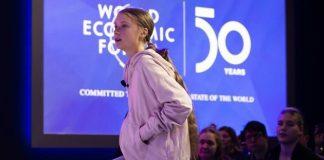 Greta Thunberg a Davos