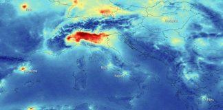 immagini del satellite dell'Esa del nord Italia