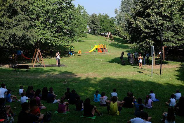 Brescia area giochi plastica riciclata Legambiente Idea Plast