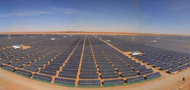 Cun'immagine della centrale solare di Nikopol