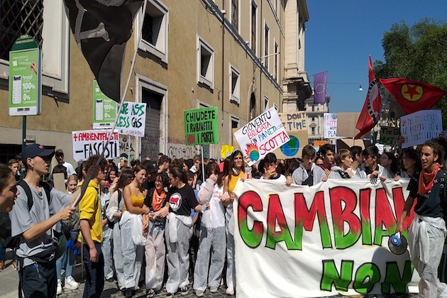 Studenti a Roma per il Global Strike
